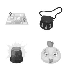 Beak security and other monochrome icon in vector