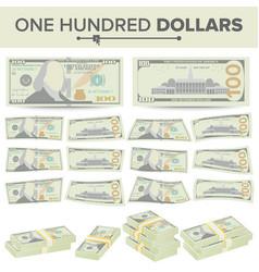 100 dollars banknote cartoon us currency vector image