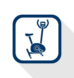 Stationary bicycle flat icon vector