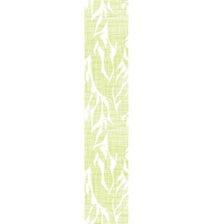 Green leaves textile texture vertical seamless vector