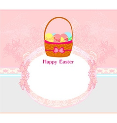 Happy easter border vector