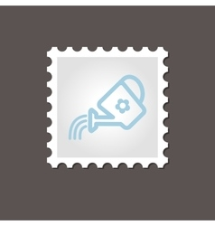 Watering can stamp outline vector