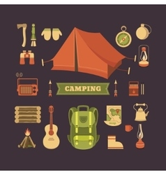 Set of camping vector