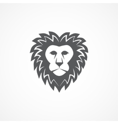 Wild lion head graphic vector