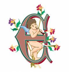fairytale letter e vector image