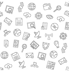 Web communication pattern black icons vector
