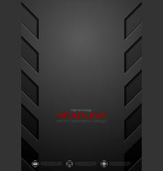 Black abstract concept technology background vector