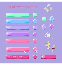 Candy buttons vector image vector image