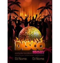 Disco background Disco poster vector image vector image