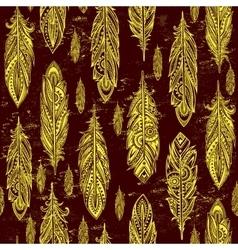 Ehnic feather seamless vector image