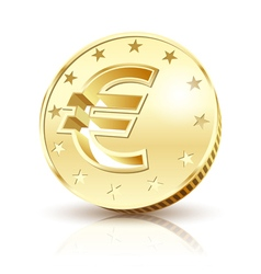 gold euro vector image vector image
