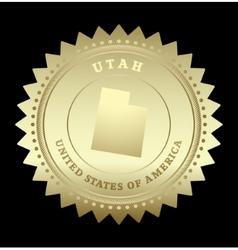 Gold star label utah vector