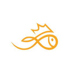 golfish symbol icon on white vector image vector image