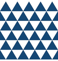 Indigo Blue White Triangle Background vector image vector image