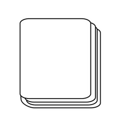 Isolated notebook cartoon vector