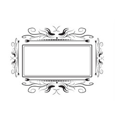 Lacy frame for photography on a white background vector