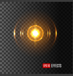 light shine in flash lens flare effect icon vector image vector image