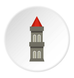 Medieval battle tower icon circle vector