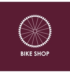 Modern of bicycle wheel vector