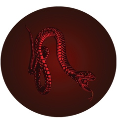 red monster snake vector image vector image