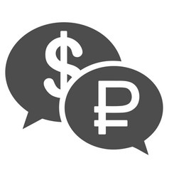 Rouble dollar transaction icon vector