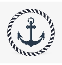 Sea lifestyle icon nautical design flat vector