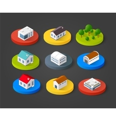 Set of isometric 3d vector