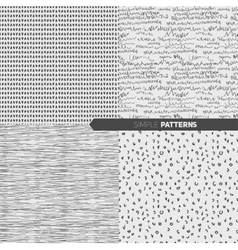 Set of simple seamless patterns vector image vector image