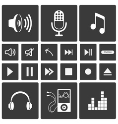 Sound icons vector image