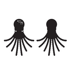 swimming octopus icon vector image vector image