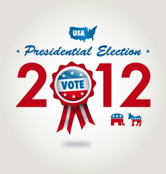 Us presidential election 2012 vector