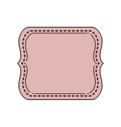 Vintage frame icon with shape square vector