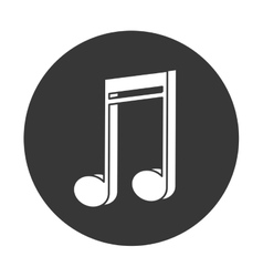 Semiquaver musical note icon vector