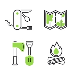 Camping icon isolated vector