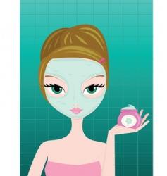 facial mask vector image