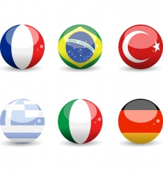 Flag spheres vector