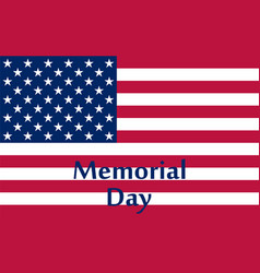 Memorial day in the united states vector