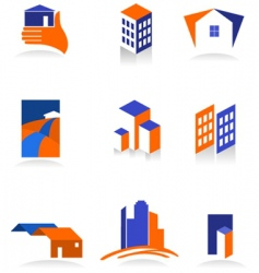 City real estate logo vector