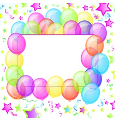 Party balloons banner vector