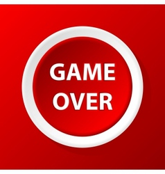 Game over icon vector