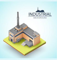 3d factory background vector image