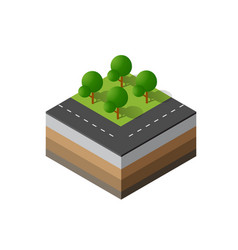 3d icon ecological natural vector