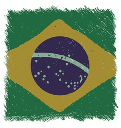 Flag of brazil handmade square shape vector