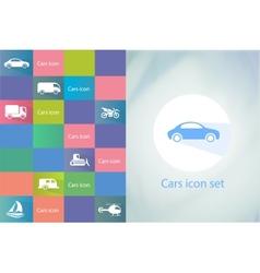 Transports icon set car icons set vector