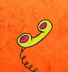 Telephone headset cartoon vector