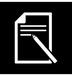 The note paper icon text file symbol flat vector