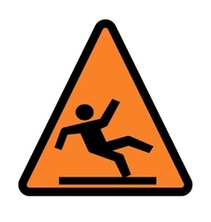 Wet floor - warning sign vector