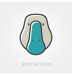 Goose icon farm animal vector