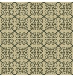 Seamless geometrical ornament with swirls vector