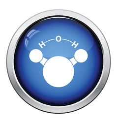 Icon of chemical molecule water vector